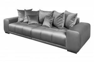 Canapea gri din poliester si lemn 280 cm Elegancia Invicta Interior