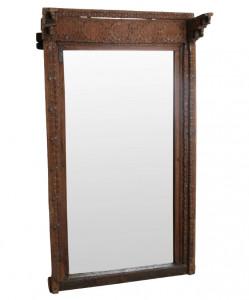 Oglinda dreptunghiulara maro din lemn si sticla 108x191 cm Dora Raw Materials