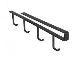 Suport 4 cani negru din metal pentru raft Cupboard Cup Black Wenko