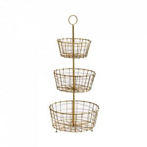Fructiera maro alama din fier 24,5x54 cm Etage Baskets Madam Stoltz