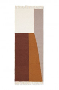 Covor multicolor din lana si bumbac 70x180 cm Kelim Borders Ferm Living