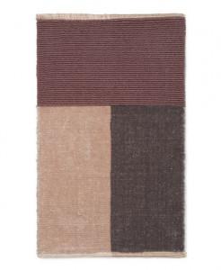 Covor multicolor din poliester si bumbac 50x80 cm Pile Brown Ferm Living