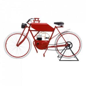 Decoratiune rosie din fier 93 cm Bicicleta Ixia