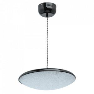 Lustra neagra din metal si plastic cu LED Omega Tech MW Glasberg