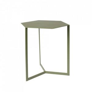 Masuta verde din fier 38x45 cm Matrix Zuiver