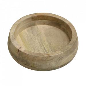 Bol decorativ maro din lemn de mango Vintage Raw Materials