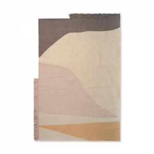 Covor multicolor din lana si bumbac 140x200 cm Kelim Earth Ferm Living