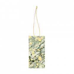 Set 6 etichete din carton Marbling Green Ferm Living