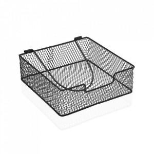 Suport negru din metal pentru servetele Napkin Versa Home