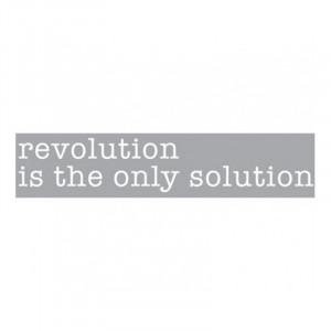 Decoratiune luminoasa alba din sticla Neon Art Revolution Is The Only Solution Seletti