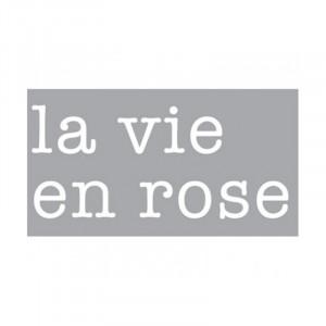 Decoratiune luminoasa alba din sticla Neon Art La Vie En Rose Seletti