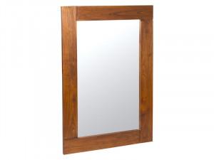 Oglinda dreptunghiulara maro din lemn mindi 50x80 cm Nature Santiago Pons