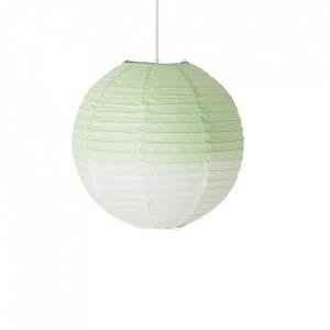 Lustra verde din hartie de orez si textil Moon Bloomingville