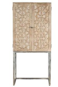 Dulap maro din lemn si metal pentru sticle 182 cm Ahna Giner y Colomer