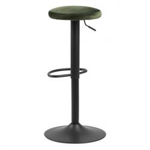 Scaun bar negru/verde padure din metal si poliester Finch Actona Company