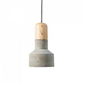 Lustra maro/gri din beton si lemn Elements Invicta Interior