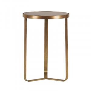 Masuta din fier si sticla pentru cafea 30 cm Ross Lifestyle Home Collection