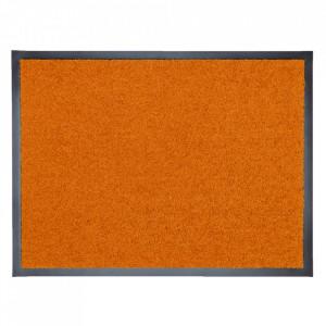 Pres dreptunghiular portocaliu din poliamida pentru intrare 60x80 cm Continental Lako