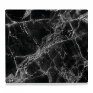 Panou antistropire negru din sticla pentru perete 50x56 cm Marble Zeller