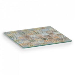 Suport multicolor din sticla pentru vase fierbinti Mosaic Zeller