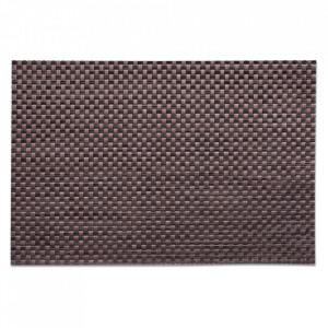 Protectie masa dreptunghiulara maro din PVC 30x45 cm Trend Zeller