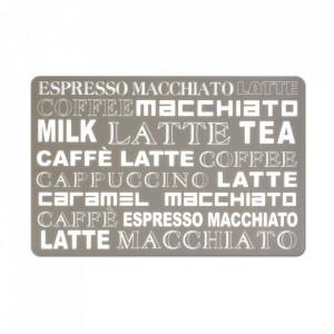 Protectie masa dreptunghiulara grej/alba din plastic 28,5x43,5 cm Latte Macchiato Zeller