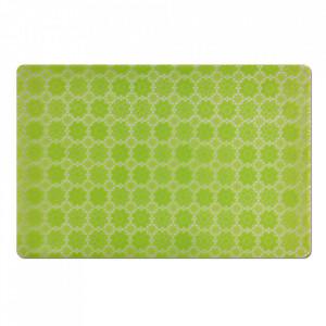 Protectie masa dreptunghiulara verde din polipropilena 28,5x43,5 cm Flowers Zeller