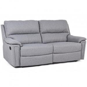 Canapea extensibila gri din poliester si otel 199 cm Olivia Bizzotto
