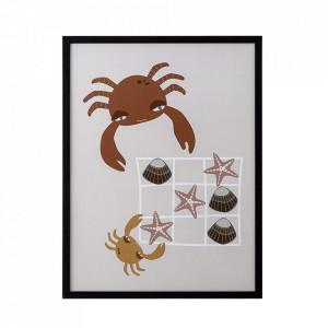 Tablou multicolor din lemn si plexiglas 32x42 cm Crab Bloomingville