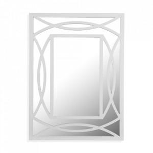 Oglinda dreptunghiulara alba din lemn si MDF pentru perete 59x79 cm Miska Versa Home