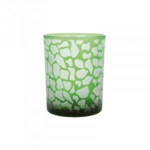 Suport verde din sticla pentru lumanare 13 cm Jafari Lifestyle Home Collection