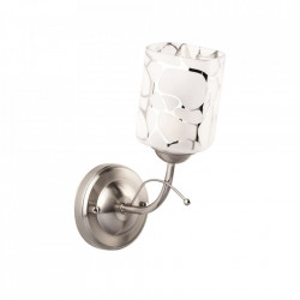Aplica argintie/alba din metal si sticla Olympia MW Glasberg