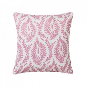 Perna decorativa patrata roz/alba din poliester 45x45 cm Cindy Unimasa