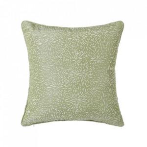 Perna decorativa patrata verde din poliester 45x45 cm Loving Unimasa