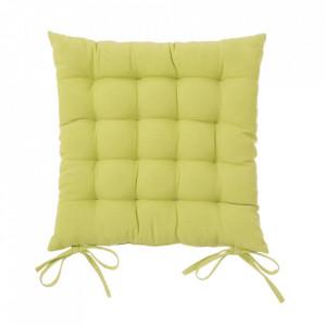 Perna patrata verde din poliester si bumbac pentru sezut 40x40 cm Loving Colours Unimasa