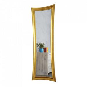 Oglinda dreptunghiulara aurie din lemn 60x180 cm Skinny Invicta Interior