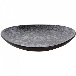 Platou negru/gri din portelan 18x20 cm Rocks Palmer