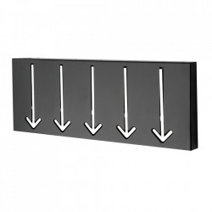 Cuier negru din metal Arrow Design Invicta Interior