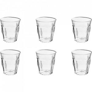 Set 6 pahare transparente din sticla 310 ml Picardie Duralex