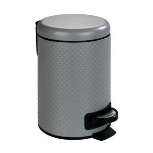 Cos de gunoi gri din otel si polipropilena 3 L Punto Wenko
