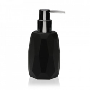 Dispenser sapun lichid negru din rasina 7,5x16 cm Clemens Versa Home