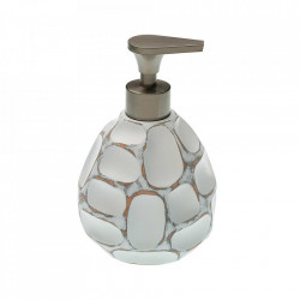 Dispenser sapun lichid alb din ceramica 11x17 cm Irregular Versa Home