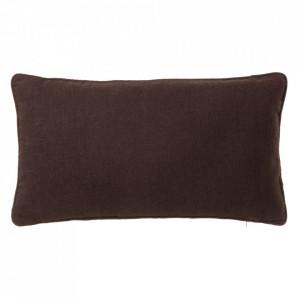 Perna decorativa dreptunghiulara maro ciocolata din poliester si bumbac 30x50 cm Loving Colours Unimasa