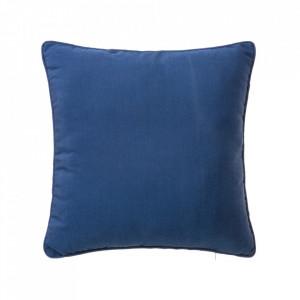 Perna decorativa patrata albastra din poliester si bumbac 45x45 cm Loving Colours Unimasa