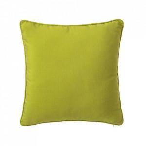 Perna decorativa patrata verde din poliester si bumbac 45x45 cm Loving Colours Unimasa