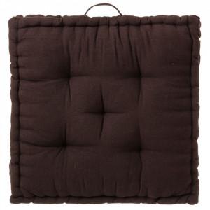 Perna patrata maro ciocolata din poliester si bumbac pentru sezut 60x60 cm Loving Colours Unimasa