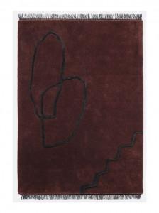 Covor rosu din lana 140x200 cm Desert Tufted Ferm Living