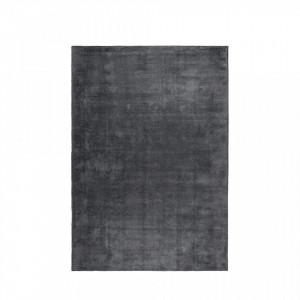 Covor gri din viscoza si poliester 170x240 cm Frish Slate White Label