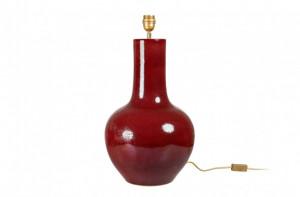 Veioza rosie din portelan 30x57,5 cm Lamp Versmissen