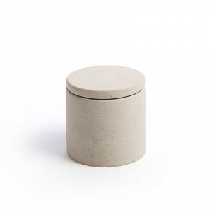 Recipient ceramic crem cu capac Hebert La Forma